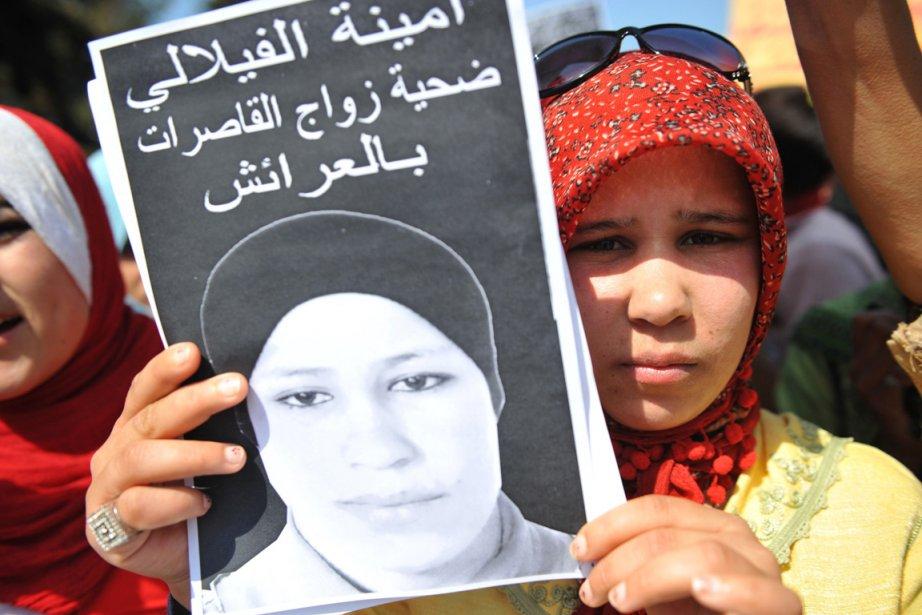 Quelque 300 personnes ont organisé jeudi un sit-in,... (Photo: Abdelhak Senna, AFP)