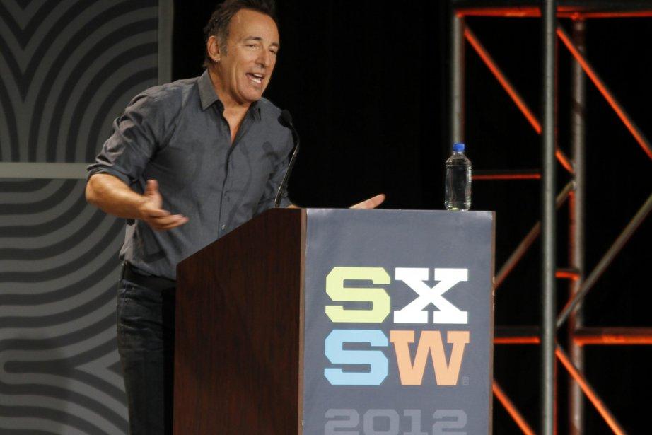 Humble, le Boss Bruce Springsteen n'a pas parlé... (Photo : Jack Plunkett, AP)