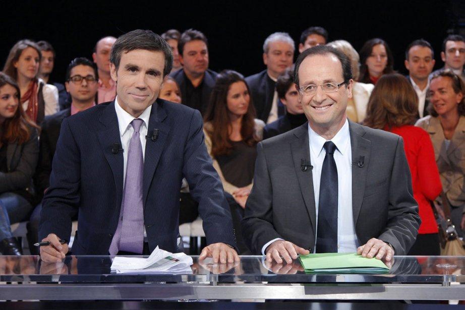 François Hollande (à droite), candidat présidentiel pour le... (Photo Reuters)