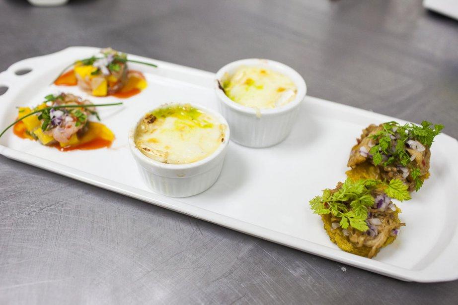 Dans l'assiette, le tartare parfumé au fruit de la passion et aux piments biquinho marinés sera accompagné d'un étagé de porc et plantain et d'un escondidinho de lapin (pâté chinois ou parmentier brésilien, c'est selon). | 16 mars 2012