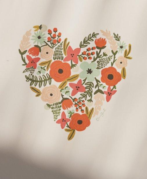 Affiche Coeur fleuri, 26$. Buk & Nola, 1593 avenue Laurier Est. | 16 mars 2012