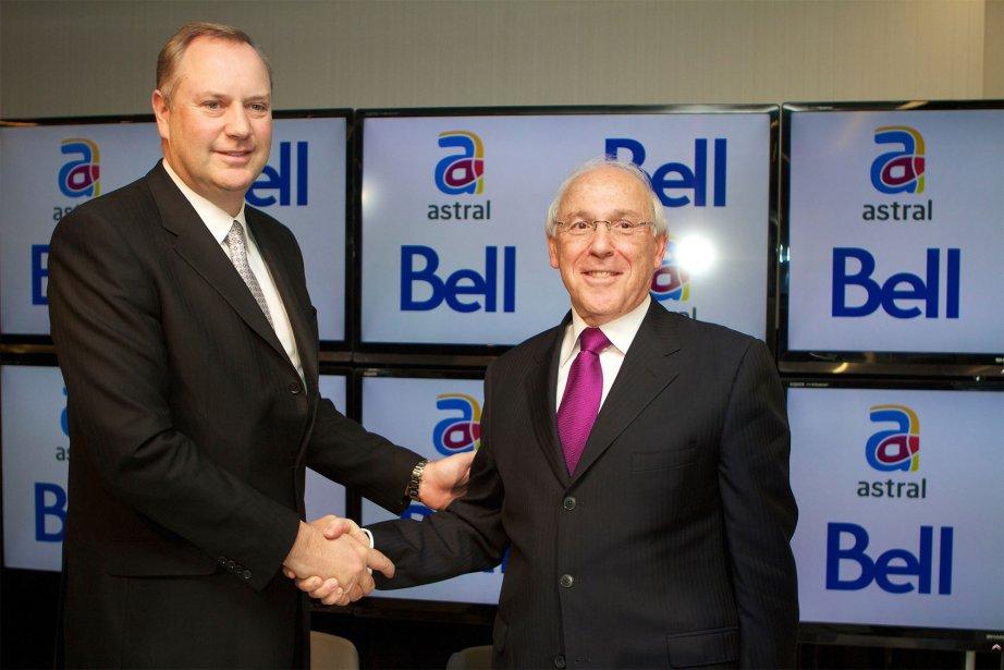 George Cope de Bell et Ian Greenberg d'Astral.... (La Presse Canadienne)