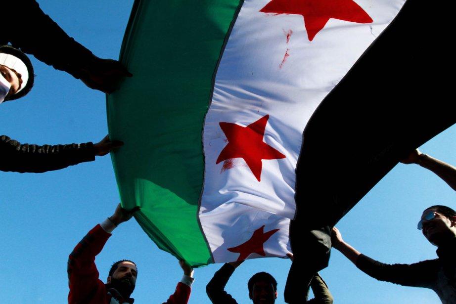Les manifestants se sont rassemblés sur la place... (Photo AFP)
