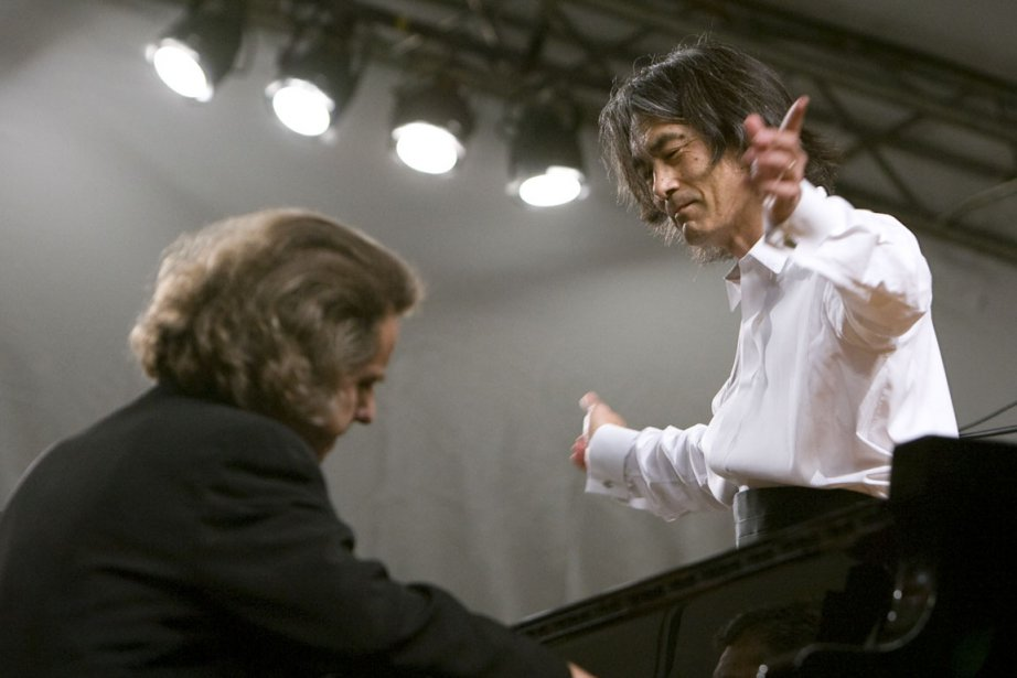Alain Lefèvre et Kent Nagano lors d'un concert... (Photo André Tremblay, archives La Presse)
