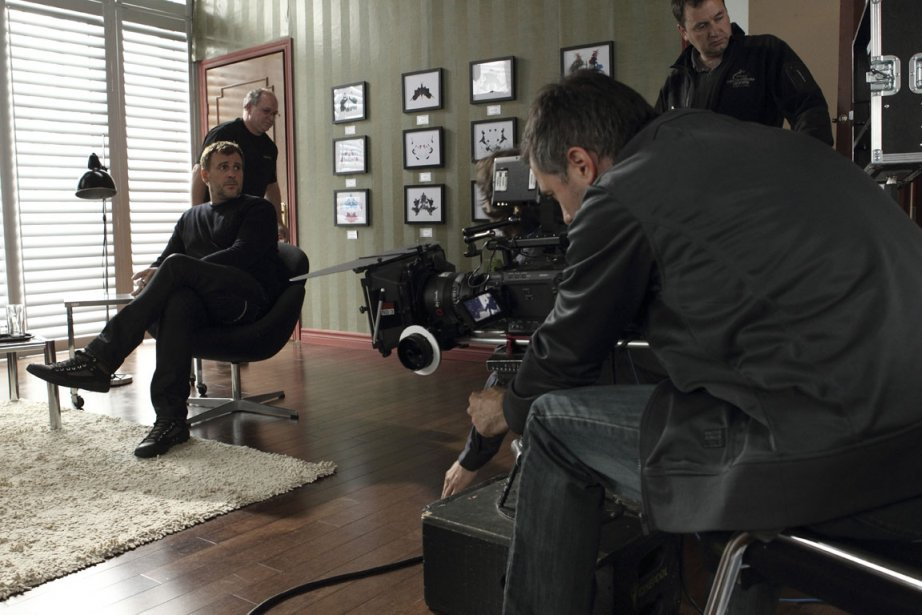 Patrick Huard en tournage sur le plateau de... (Photo Mathieu Bouthillette, collaboration spéciale, La Presse)