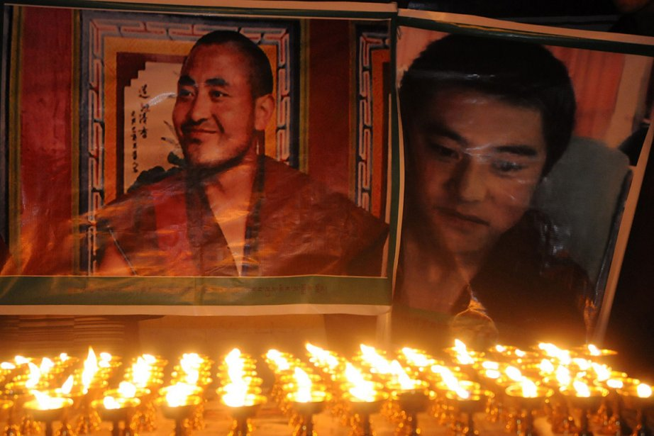 Jamyang Palden, un moine, s'est immolé à Tongren... (Photo: AFP)