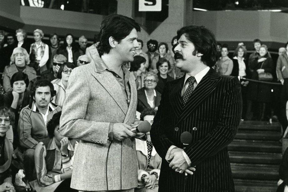 Guy Boucher et Gaston L'Heureux à l'émission «Les... (Photo fournie par Radio-Canada)