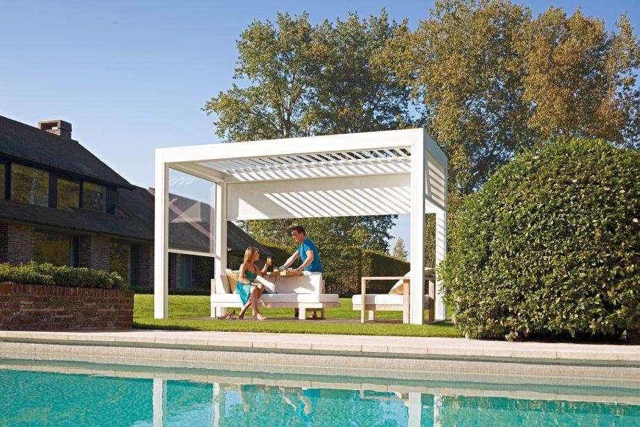 L'abri-terrasse Outdoor Living, lancé ce week-end au Salon... (Photo fournie par Design Clinique)