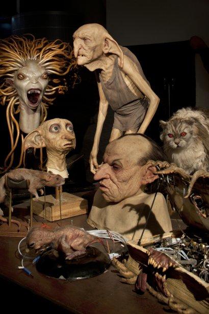 La visite propose également un détour par l'atelier où étaient faits les animatroniques et le maquillage. | 19 mars 2012