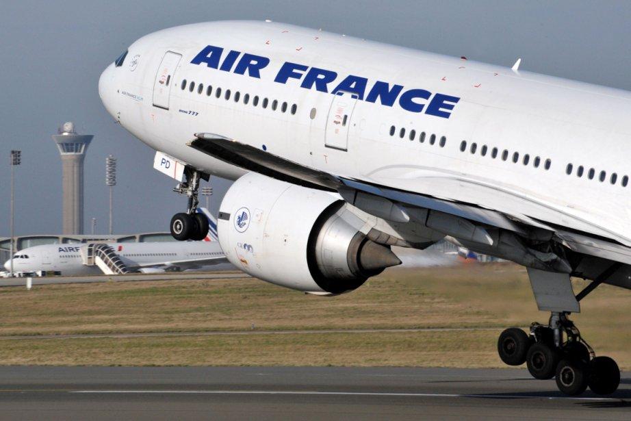 Un avion d'Air France.... (Photo AFP)