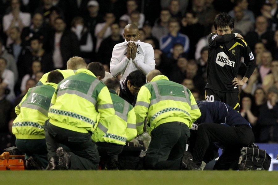 Le joueur de Bolton Fabrice Muamba a été... (Photo: AP)