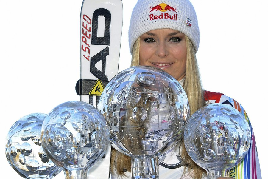 Lindsey Vonn a remporté les globes de cristal... (Photo: AP)