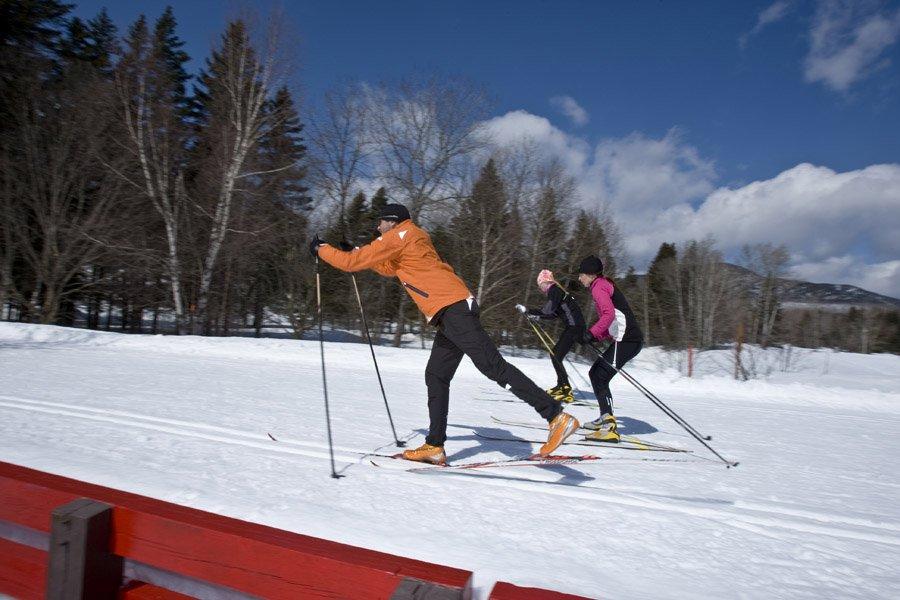 Pour le ski de fond, les conditions sont,... (Photo: archives La Presse)