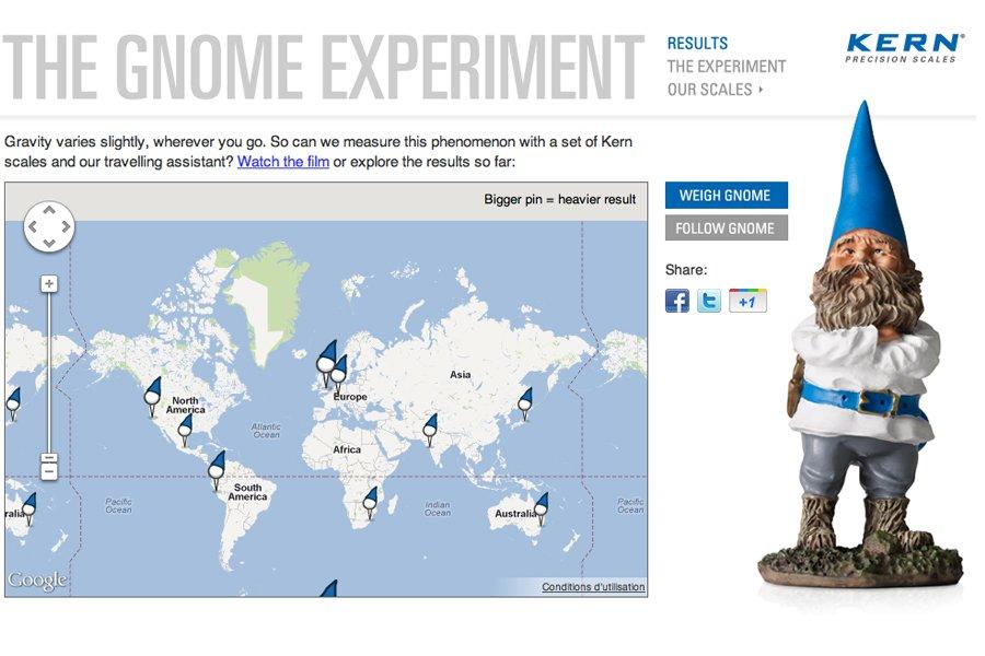 Une capture d'écran du site internet de l'expérience,...