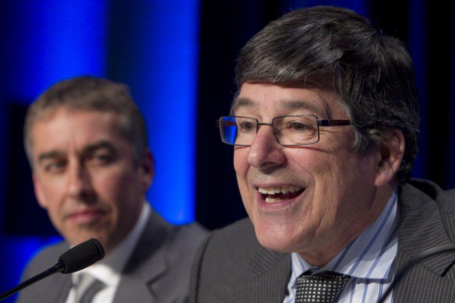 Alain Simard et Nicolas Marceau, du Parti québécois.... (Photo Robert Skinner, La Presse)