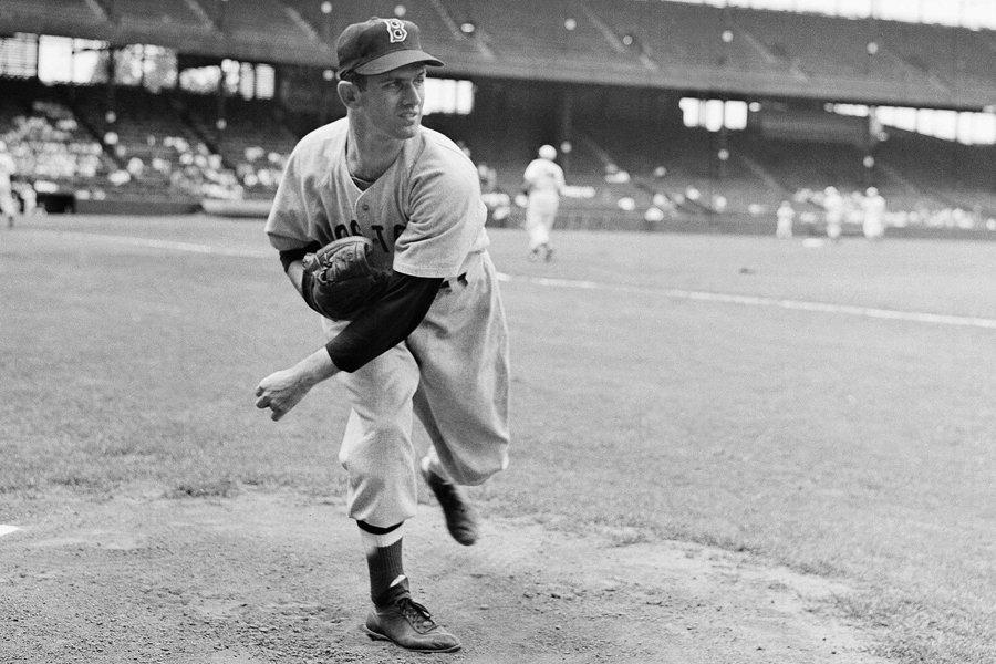 Mel Parnell avec les Red Sox de Boston... (Photo: AP)
