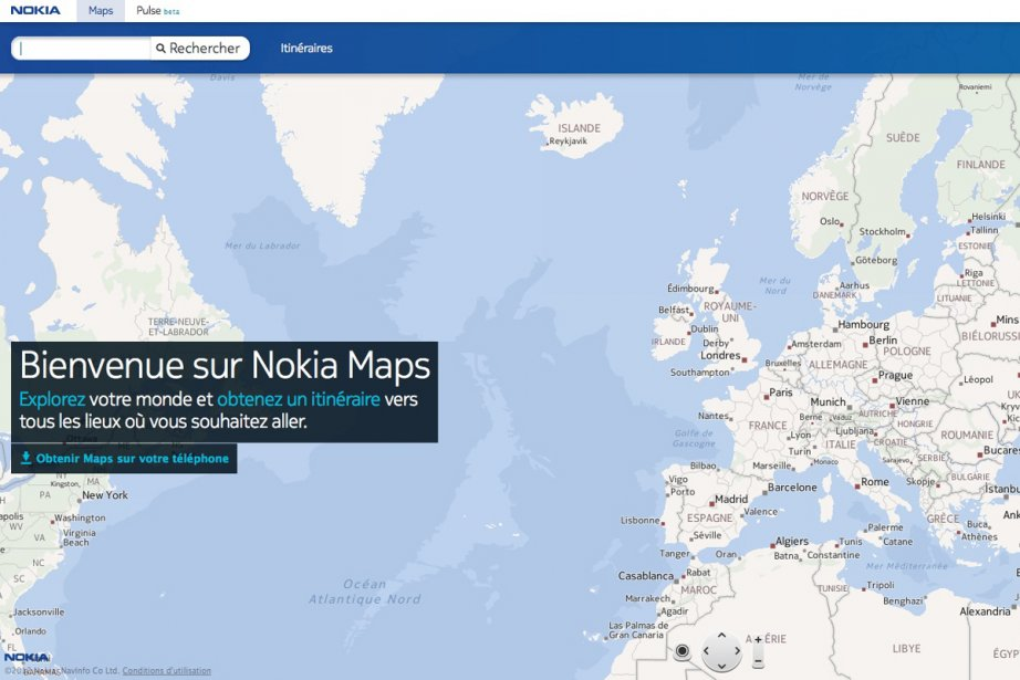 Nokia a mis à jour son site mobile m.maps.nokia.com pour lui ajouter le...
