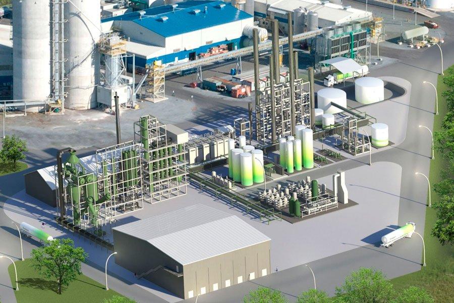 L'usine d'Enerkem, à Varennes... (Photo fournie par Enerkem)