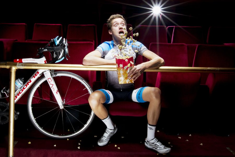 Le cycliste David Boily au Salon Rouge du... (Photo: Alain Roberge, La Presse)
