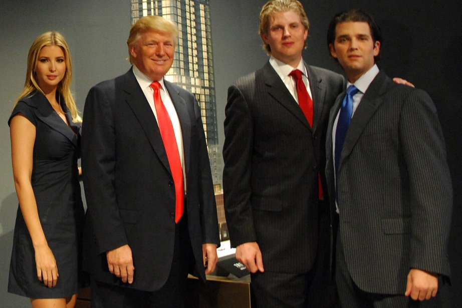Donald Jr (droite), son frère Eric (2e à... (Photo: Jennifer Altman, Archives Bloomberg News)