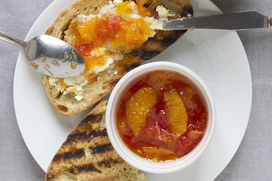 Marmelade-minute orange et pamplemousse... (Photos Robert Skinner, La Presse)