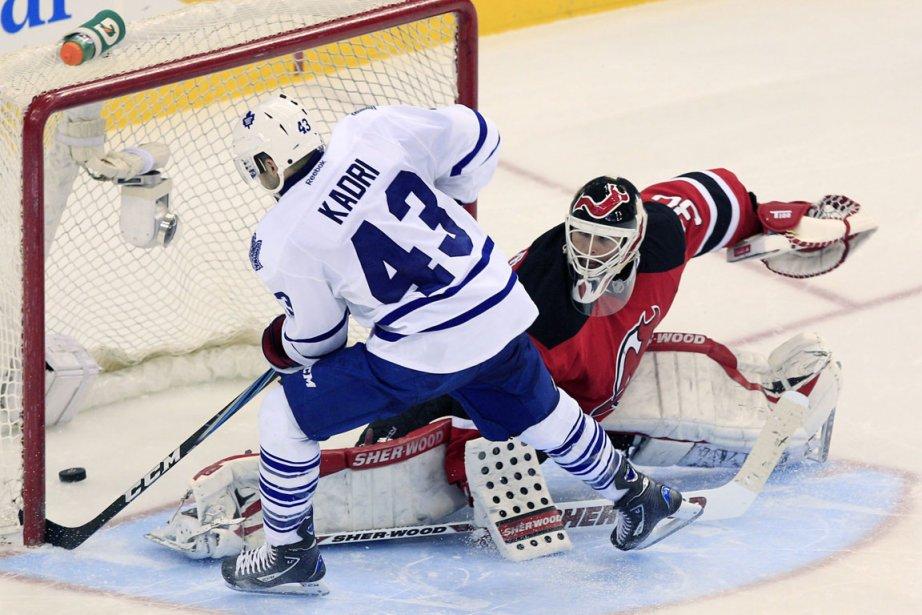 James Reimer a effectué 43 arrêts, tous les joueurs des Maple Leafs... (Photo AP)