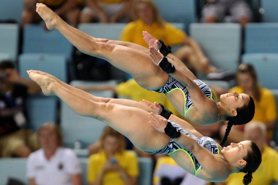 Meaghan Benfeito et Roseline Filion... (Photo AFP)