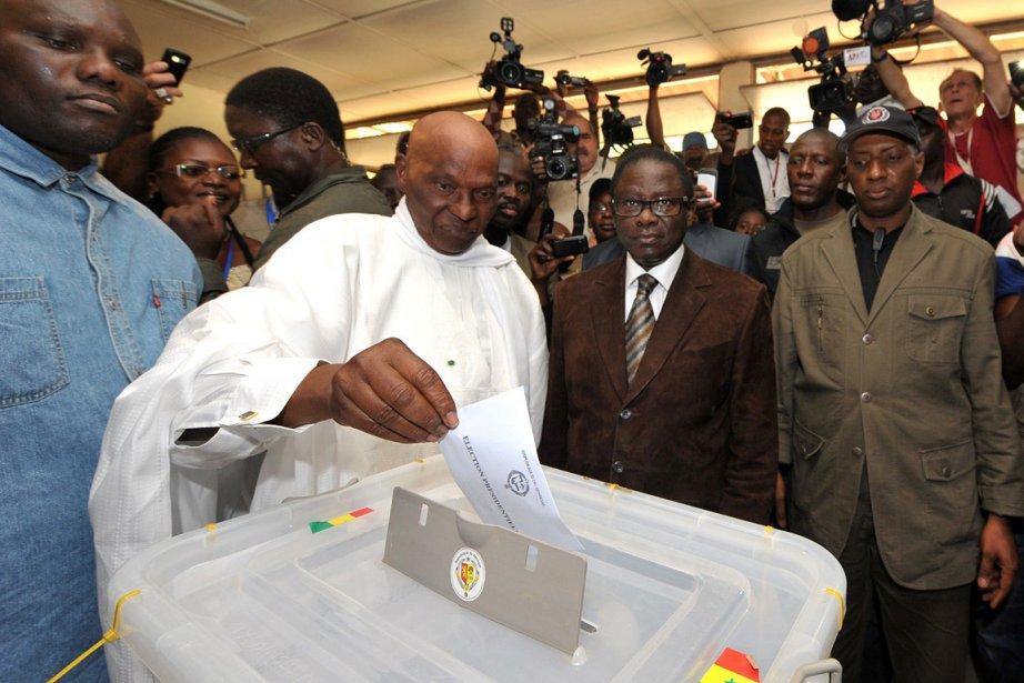 Le chef de l'État sortant Abdoulaye Wade a... (Photo: AFP)
