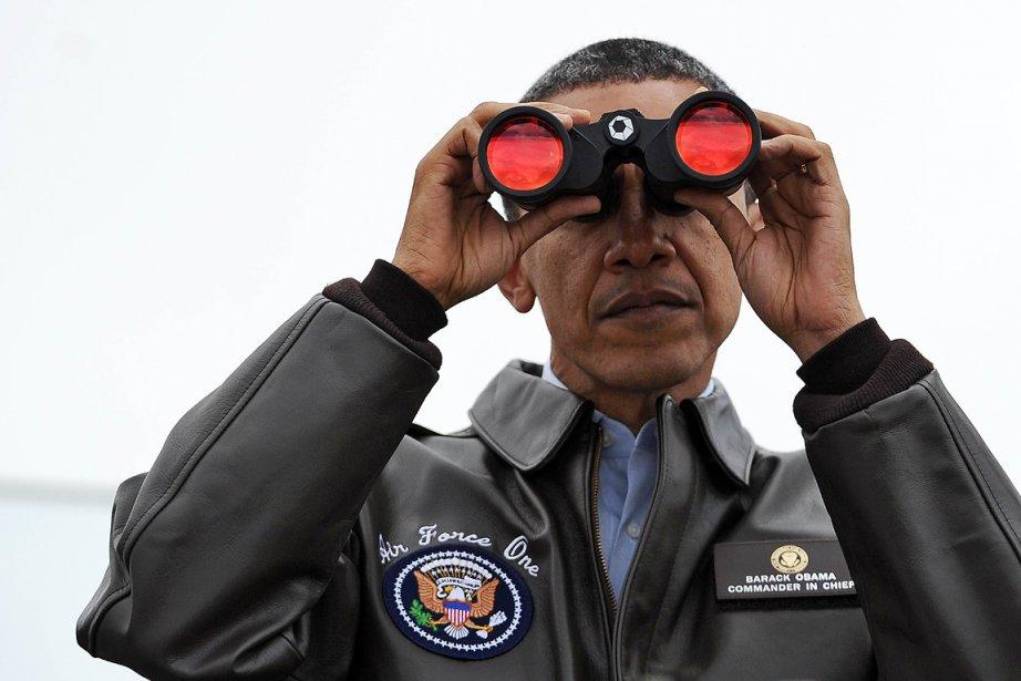 Le président américain Barack Obama regarde vers la... (Photo: AFP)