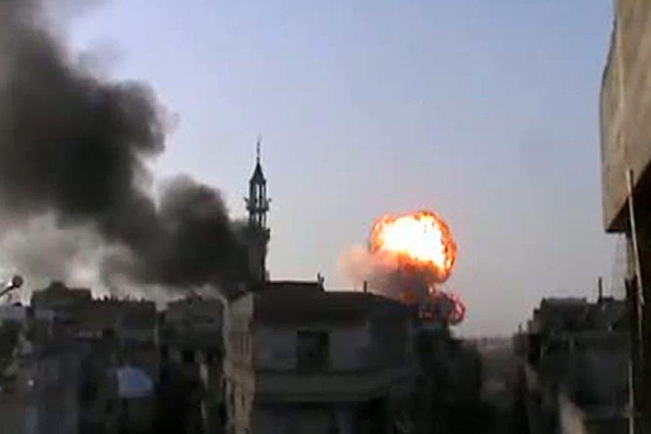 Cette image a été tirée d'une vidéo YouTube... (Photo: AFP/YouTube)