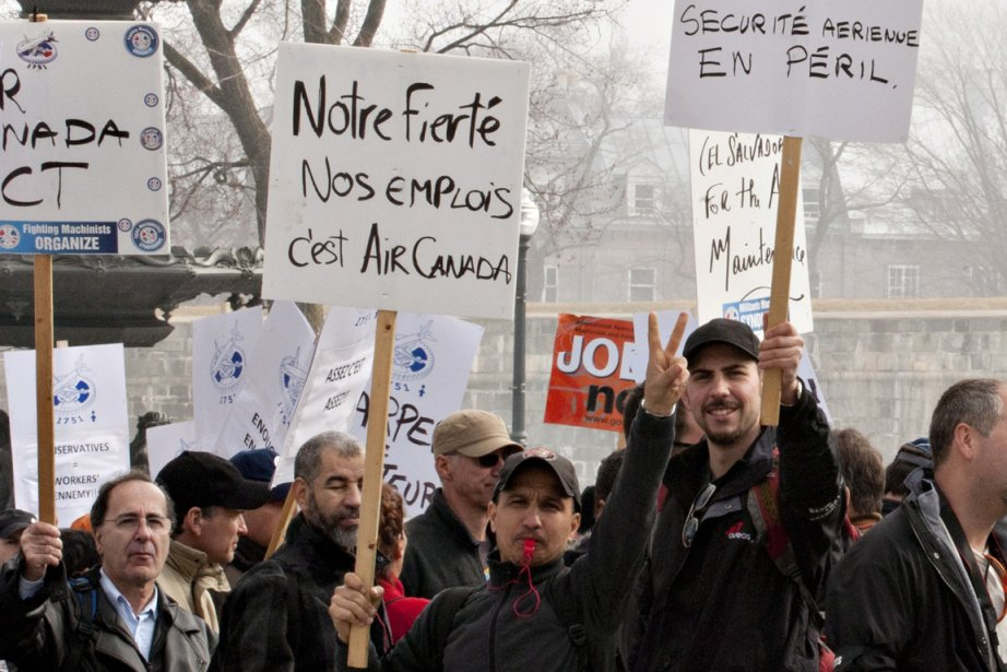 Les ex-employés d'Aveos, un sous-traitant d'Air Canada, estiment... (Photo La Presse Canadienne)
