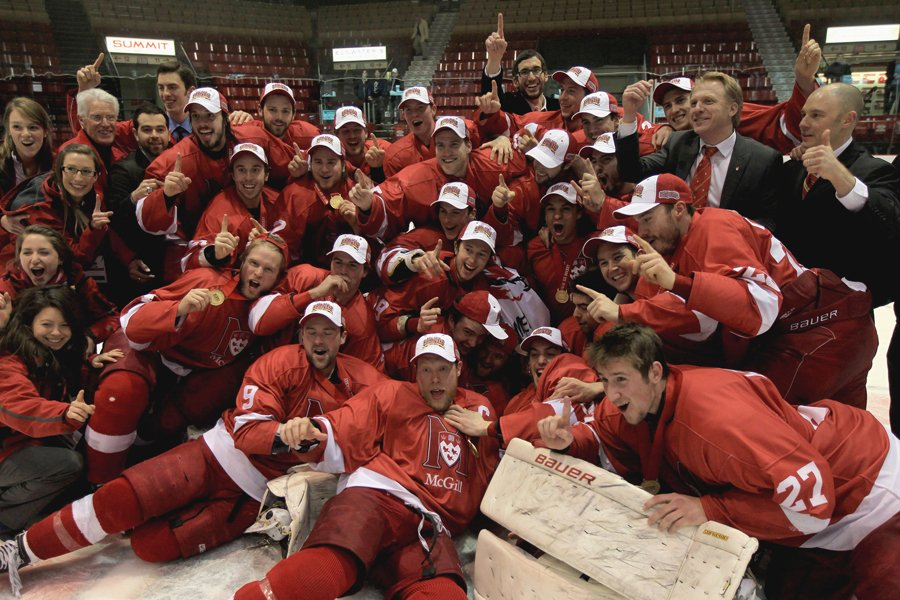 Les Redmen de McGill ont remporté leur premier championnat... (Photo: PC)