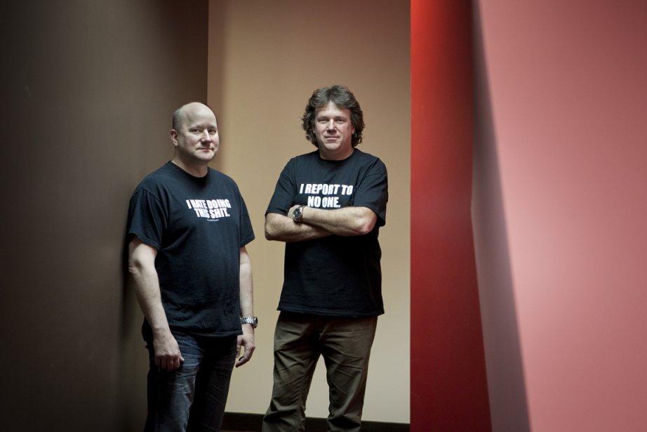 Acquisio, dirigée par Martin Le Sauteur (à gauche)... (Photo Marco Campanozzi, La Presse)