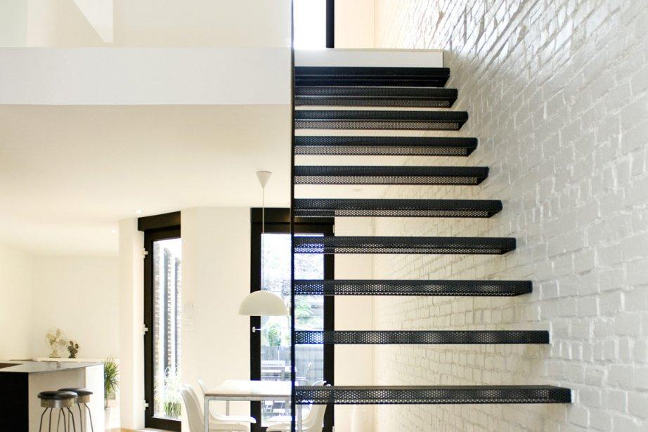 Ce condo à deux niveaux, situé dans un... (Photo: Olivier Malenfant pour La Shed Architecture)