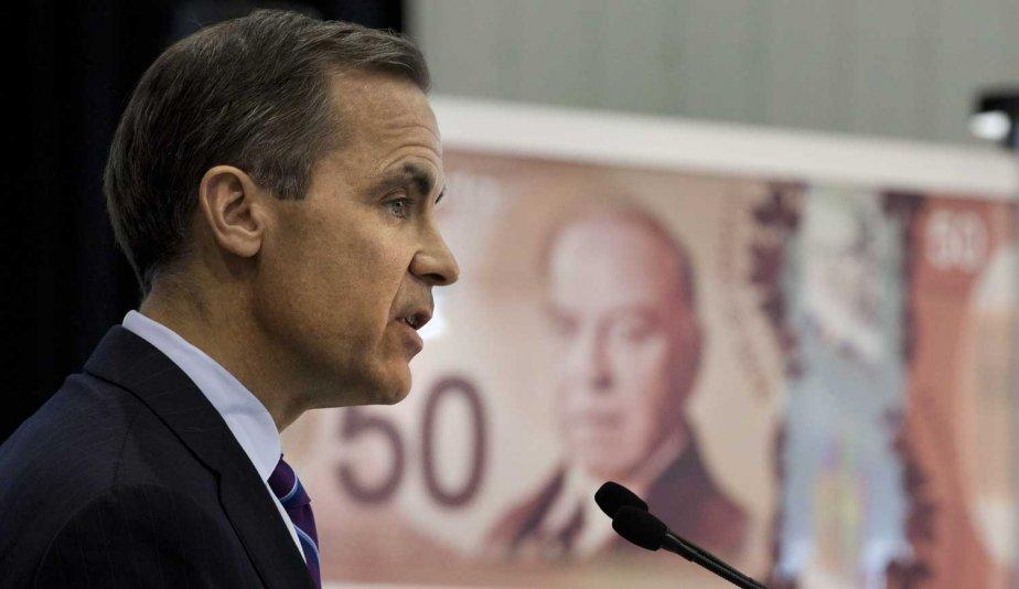 Le gouverneur de la Banque du Canada présentant... (Photo Jacques Boissinot, La Presse Canadienne)