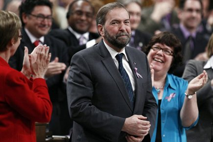 Thomas Mulcair a obtenu une ovation debout de... (Photo: Reuters)