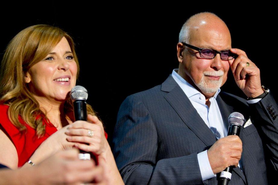 Julie Snyder et René Angélil, de même que... (Photo: Alain Roberge, La Presse)
