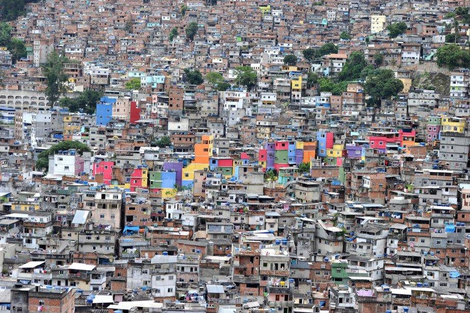 Vue aérienne de la Rocinha, la plus ... (Photo: Christophe Simon, AFP)