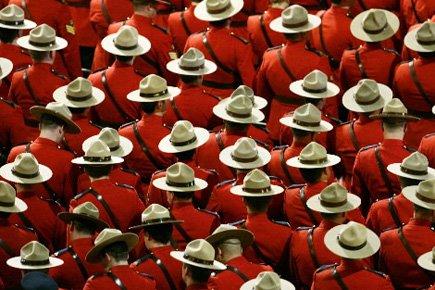 Environ 150 agentes de la Gendarmerie royale du Canada (GRC)... (Photo: Reuters)