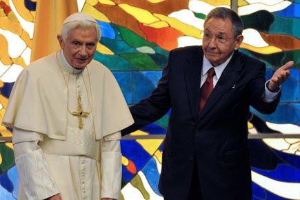 Benoît XVI a rencontré mardi pendant 40 minutes... (Photo: Reuters)