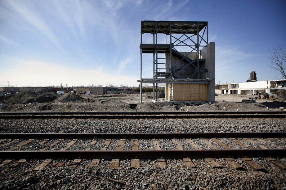 La gare de Saint-Léonard sera construite sur une... (Photo: Marco Campanozzi, La Presse)