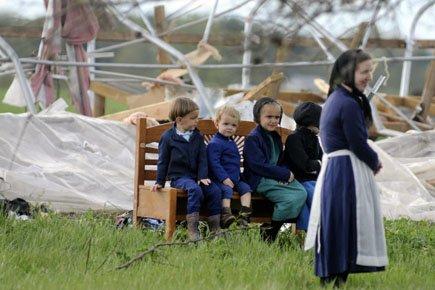 Les Amish, des protestants émigrés d'Allemagne, de Suisse... (Photo: AP)