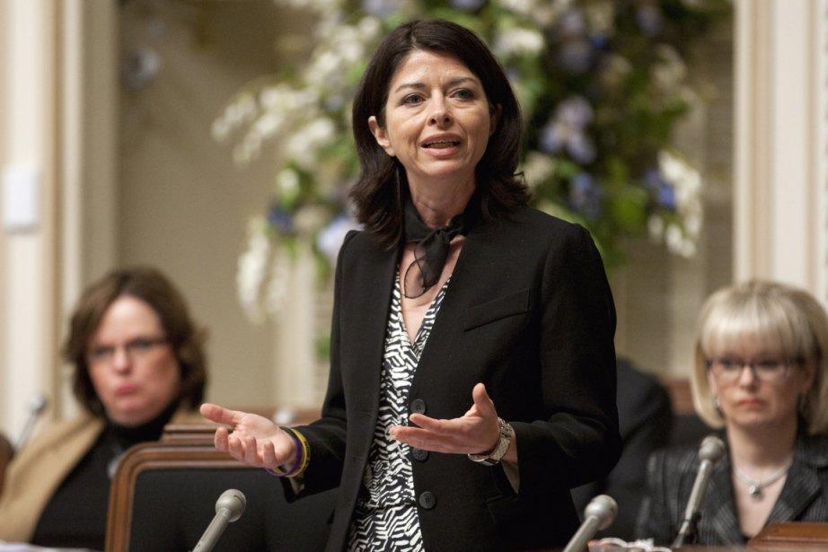 La ministre de l'Éducation, Line Beauchamp, reproche aux... (Photo: Jacques Boissinot, PC)