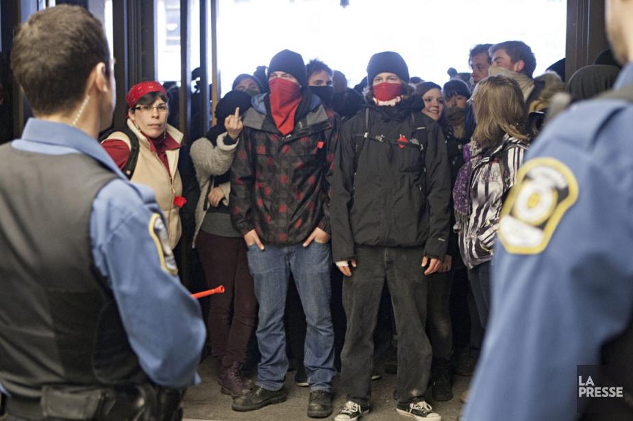 Ces membres de la CLASSE manifestaient en appui... (Photo: David Boily, Archives La Presse)