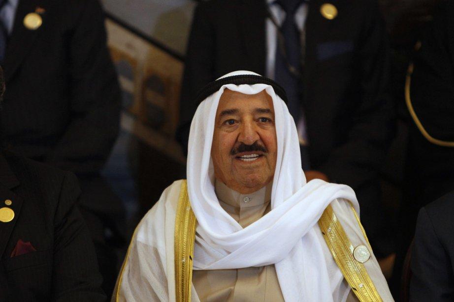 Dans un discours devant le sommet arabe, cheikh... (Photo: Saad Shalash, Reuters)