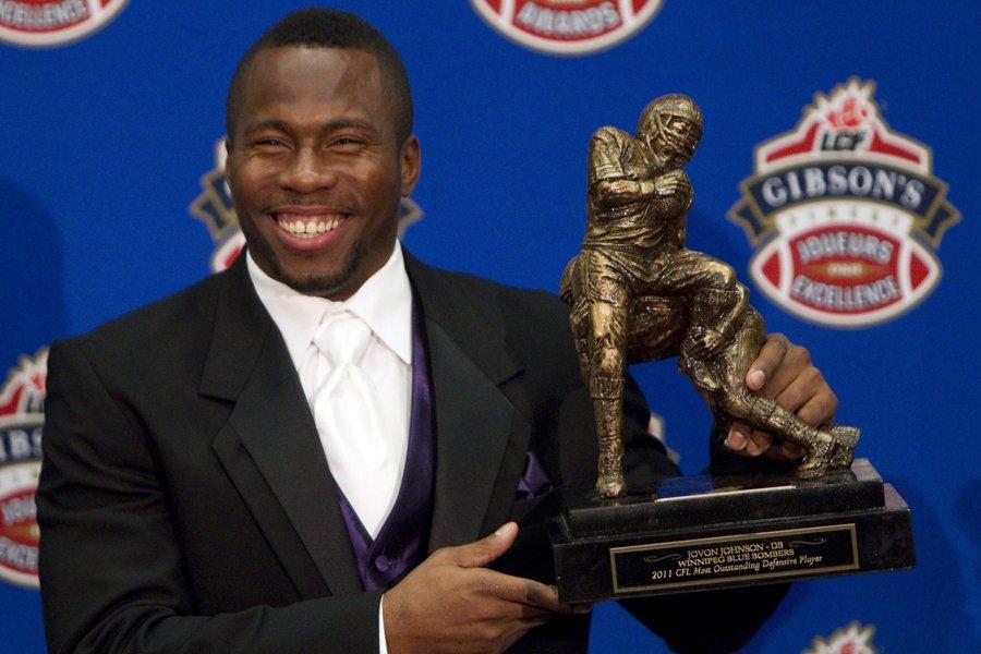 Jovon Johnson a été nommé le joueur défensif... (Photo: PC)