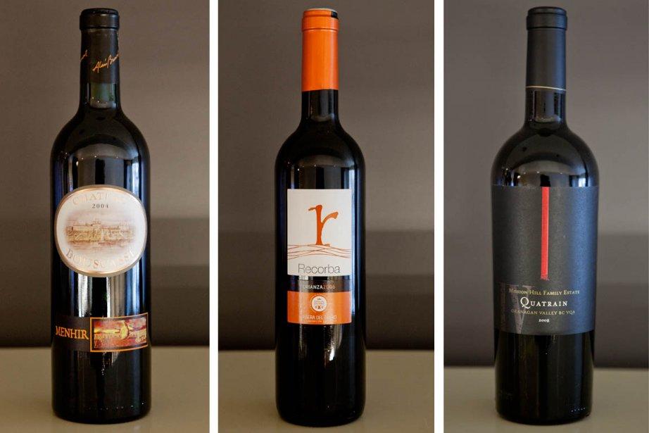 Voici trois suggestions de vins pour accompagner le... (Photos Marco Campanozzi, La Presse)