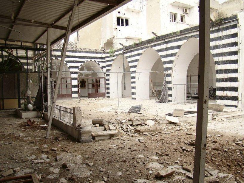 La mosquée Sheikh Kamel de Homs. | 31 mars 2012