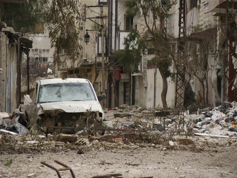Ruines dans la vieille ville de Homs. | 31 mars 2012