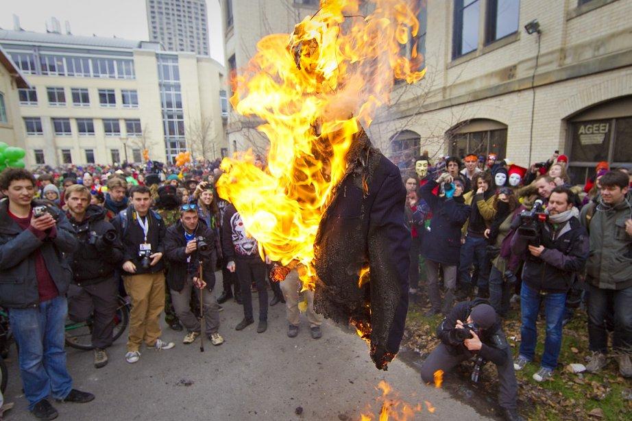 Quelques milliers d'étudiants ont participé à la Grande... (Photo: André Pichette, La Presse)